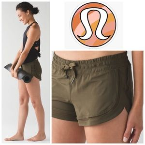 "Lululemon Make A Move Short (3"") in Military Green"